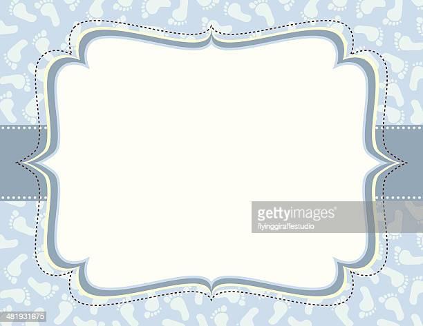 Blue Footprints Ornate Frame