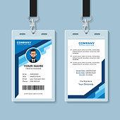 Creative employee identity card design