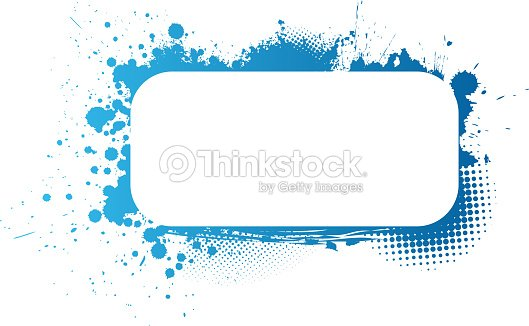 Moldura grunge azul arte vetorial thinkstock - Molduras modernas ...