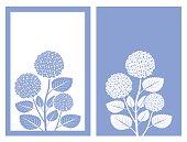 isolated blue hydrangea flower,vector illustration