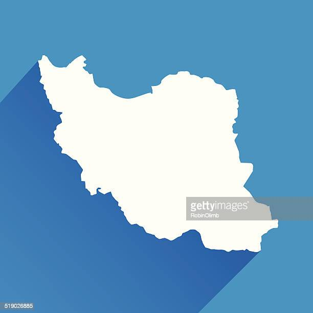 Blue Iran Map Icon