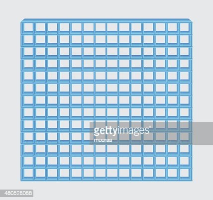 blue jail bars : Vectorkunst