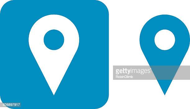 Blue Map Pointer Icons