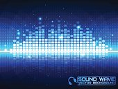 Sound wave. Vector Illustration of a blue music equalizer. EPS10.