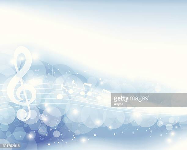 Blue Musical Note Background