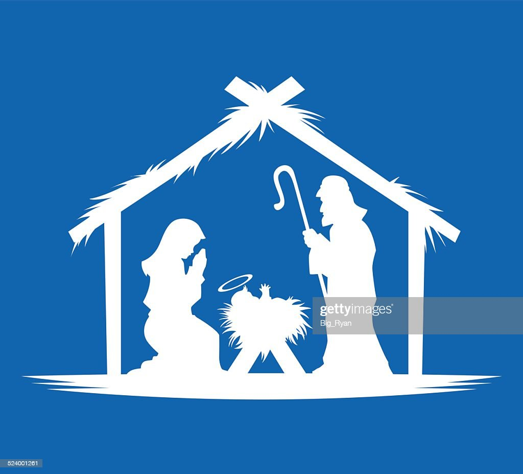 Blue Nativity Vector Art | Getty Images
