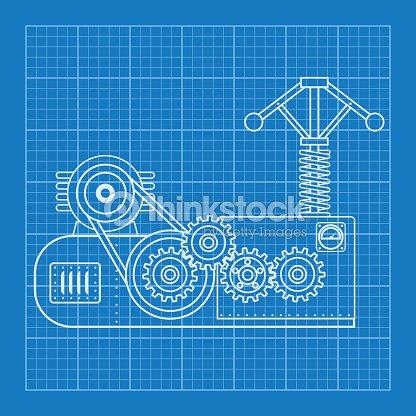 Blue physical formula vector illustration mechanical blueprint of blue physical formula vector illustration mechanical blueprint of engine vector art malvernweather Choice Image