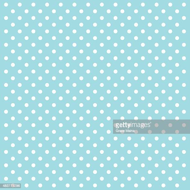 Blue Polka Dots Vector Background - VECTOR