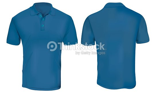Blue Polo Shirt Template Vector Art | Thinkstock