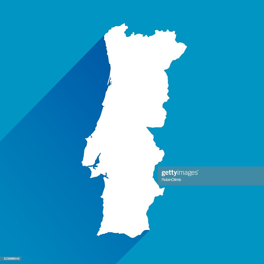 Blue Portugal Map Icon Vector Art Getty Images - Portugal map icon