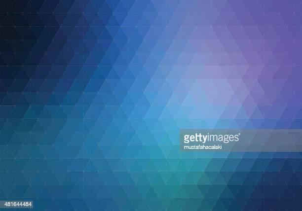Blue purple Sechseck Hintergrund mit Linien