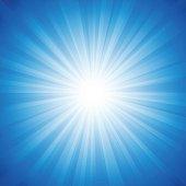 Blue radiance background vector illustration.