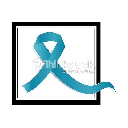 Blue Ribbon Symbol Of Prostate Cancer Awareness Month Vector Art