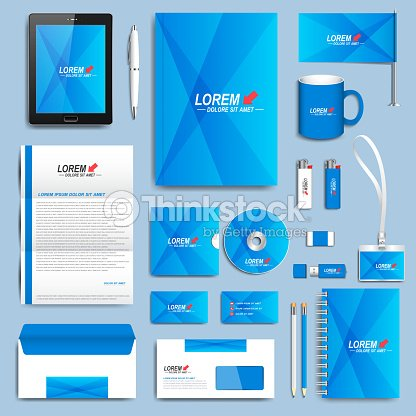 Blue set of vector corporate identity templates modern business blue set of vector corporate identity templates modern business stationery vector art cheaphphosting Gallery