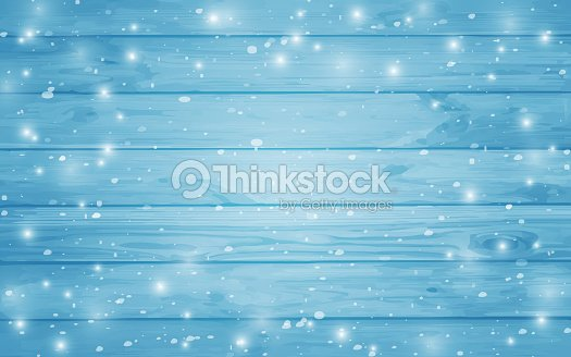 Blue snow-covered wooden background. Winter. Snowstorm. Snowfall. Christmas wood background. Night and snowflakes on the background of boards. : stock vector