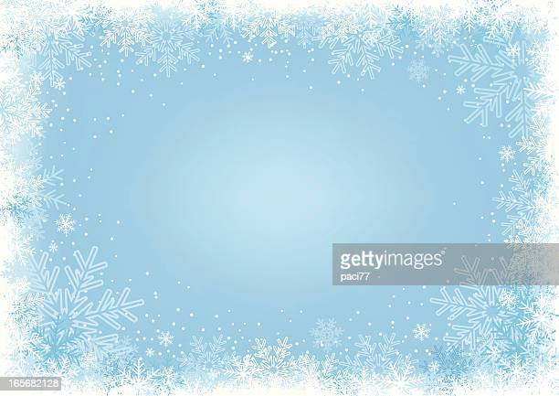 Blue Snowflake Background.