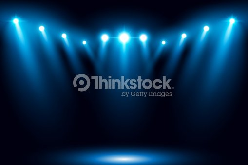 Blue stage arena lighting background with spotlight : stock vector