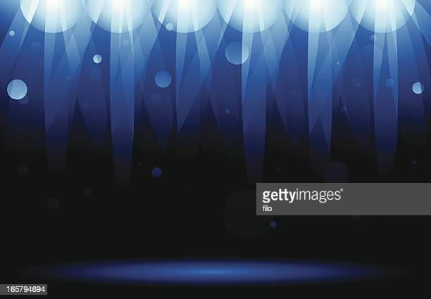 Blaue Bühne Lichter