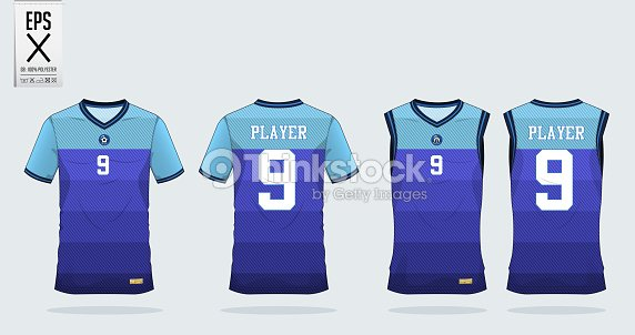 Raya azul patrón camiseta deporte diseño una plantilla para camiseta de  fútbol e0231e2027245