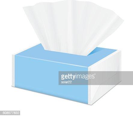 Tessuto blu pacchetto di plastica avvolgere : Arte vettoriale