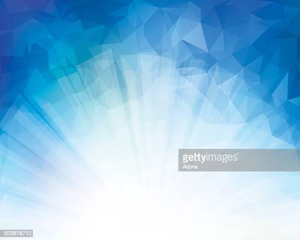 Triangle bleu en arrière-plan