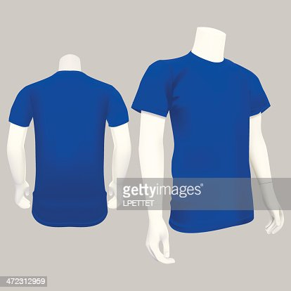 Blue tshirt template vector illustration vector art for Blue t shirt template