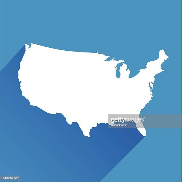 Blue United States Icon