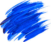 Blue watercolor texture paint stain shining brush stroke