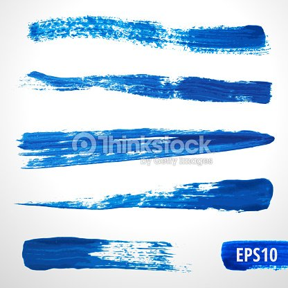 Blue Watercolor Vector Brushes stock vector - Thinkstock