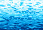 Blue waves background. Eps8. RGB. Global colors