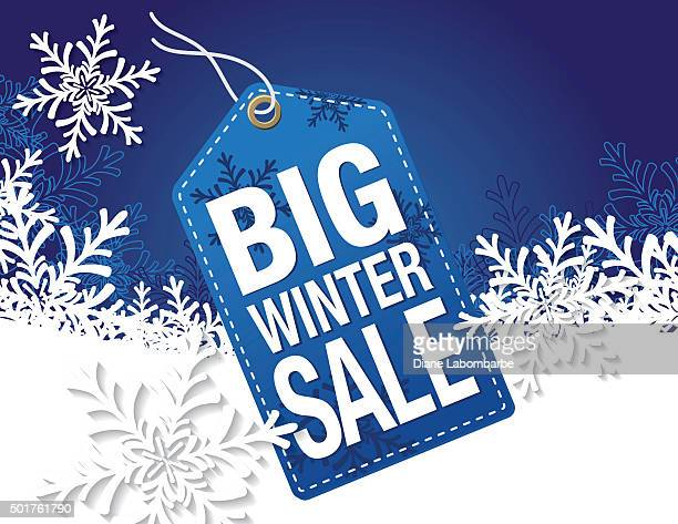 Blue Winter Sale Tag Advertisement