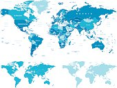 World maps with different specification.
