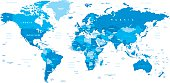 Highly detailed vector illustration of world map.