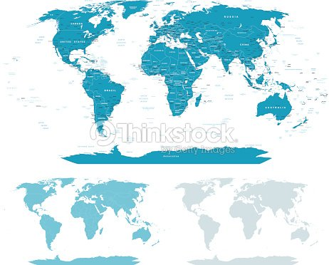 Bluegreen world map borders countries and cities illustration vector blue green world map borders countries and cities illustration vector art gumiabroncs Choice Image
