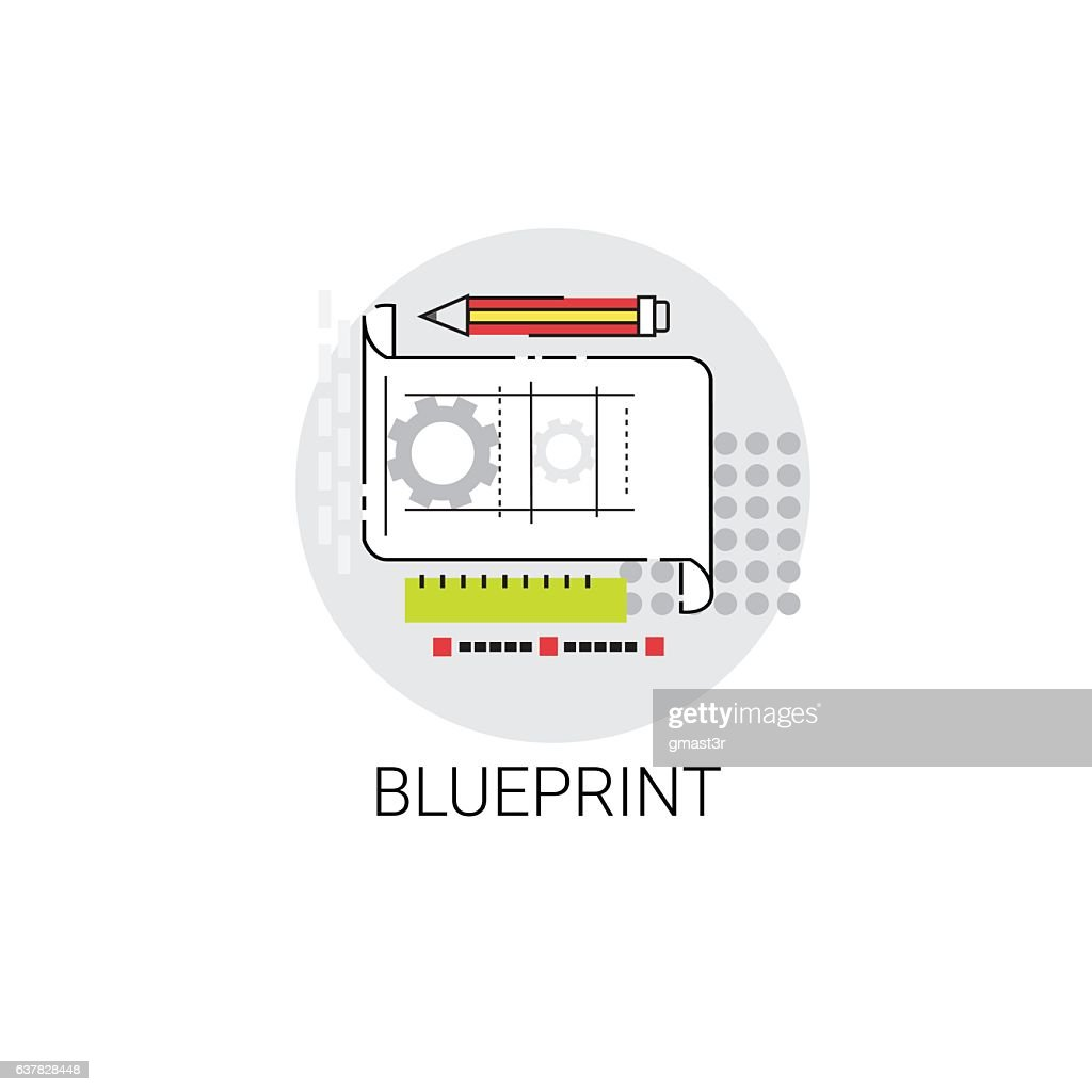 Blueprint building project construction engineering icon vector art blueprint building project construction engineering icon vector art malvernweather Choice Image