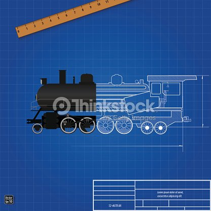 Blueprint of a steam locomotive sectional drawing vector art blueprint of a steam locomotive sectional drawing vector art malvernweather Choice Image
