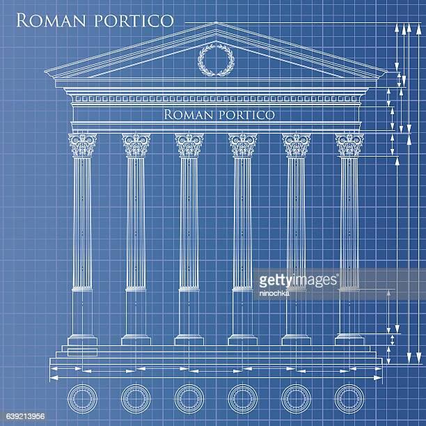 Blueprint portico