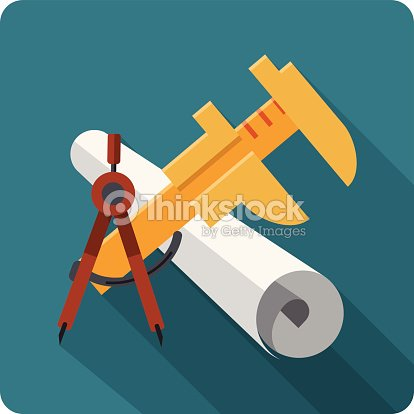 Blueprint roll of paper calliper engineers vector art thinkstock blueprint roll of paper calliper engineers vector art malvernweather Images