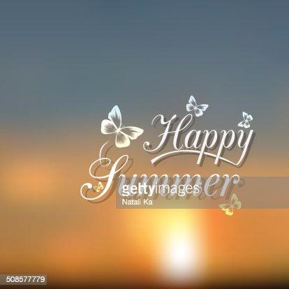 Flou plage et bleu ciel avec soleil éclatant : Clipart vectoriel