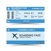 Boarding pass tickets blue design. vector illustration.