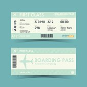 Boarding pass tickets green design. vector illustration.