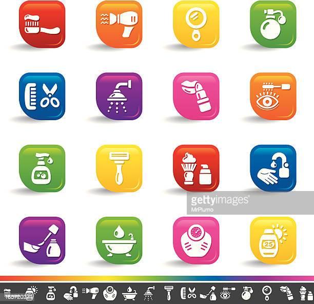 Body care icons | Rainbow Series