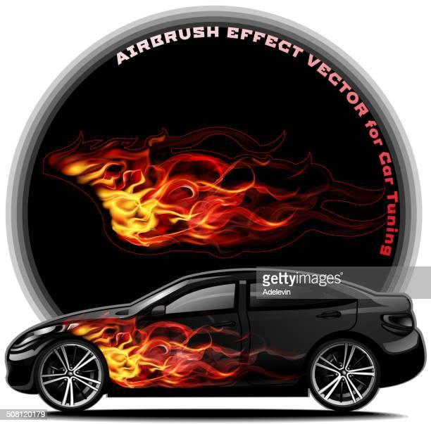 - Kit für Cars- fiery-tail-Schnittform