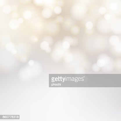 Bokeh silver and white Sparkling Lights Festive background with texture. Abstract Christmas twinkled bright defocused. Winter Card or invitation. Vector : Vector Art