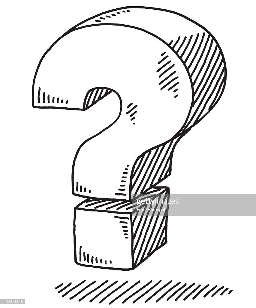 Coloring pages question mark - Bold Question Mark Sign Drawing