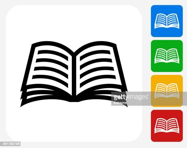 Book Icon Flat Graphic Design