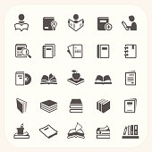 Book icons set, EPS10, Don't use transparency.
