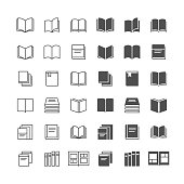 Simple vector icons. Clear and sharp. Easy to resize. No transparency effect. EPS10 file. Included normal and enable state.