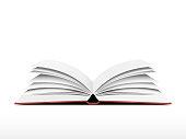 Book open realistic effect in vector format