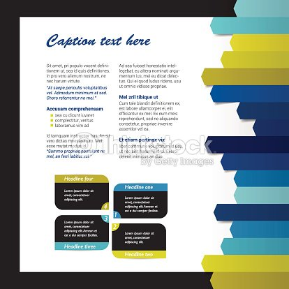 booklet page magazine layout for infographics web template vector